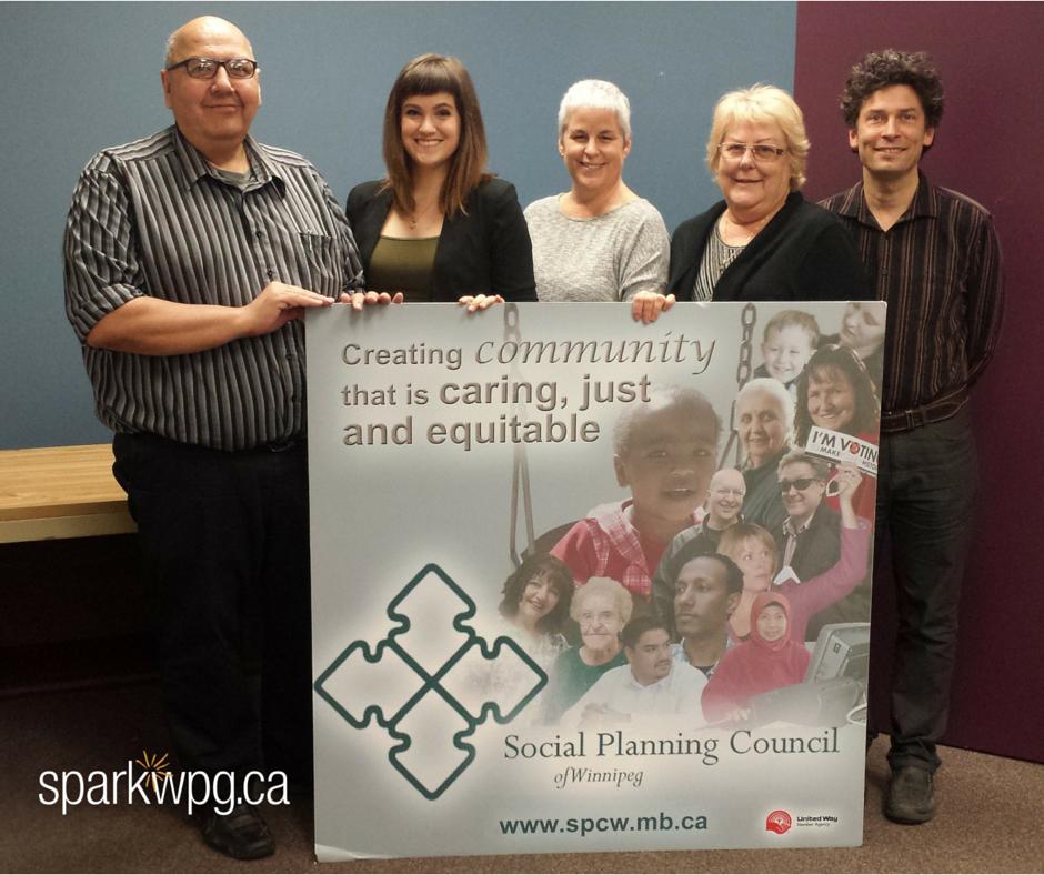 Social Planning Council Winnipeg - Kyla Roma. Albert, Kyla, Kate, Cindy, Josh 2