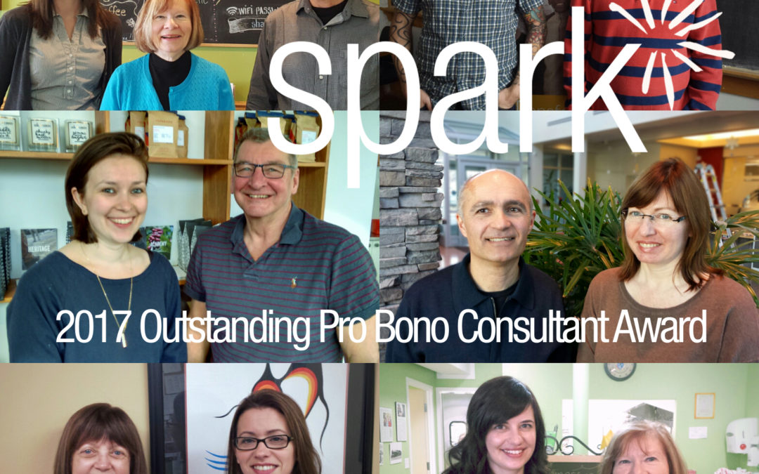 And the nominees for the Spark Outstanding Pro Bono Consultant are…