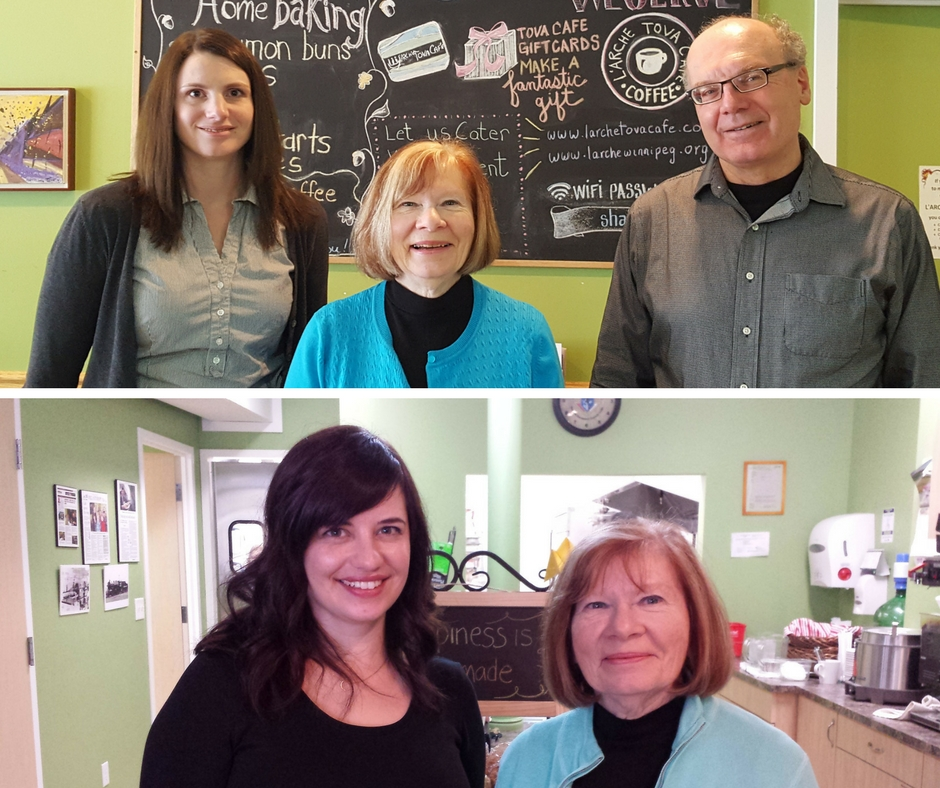 Top: Jill Knaggs, Diane Truderung, and Jim Lapp Bottom: Elise Epp and Diane Truderung