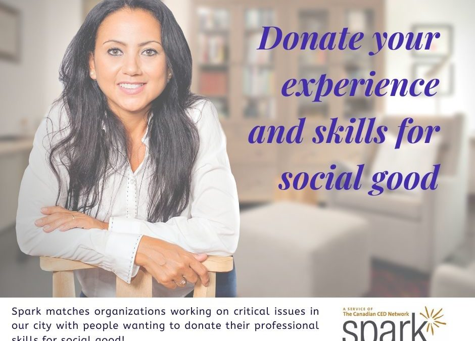 Donate your experience and skills for social good
