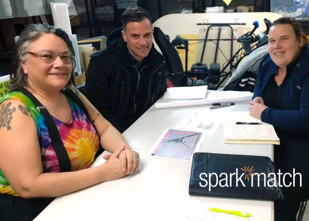 Spark match! West Broadway Community Organization was matched with Monica Giesbrecht, Principal at HTFC Planning & Design.